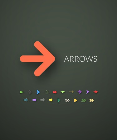 arrow sign: Flat icons set 28