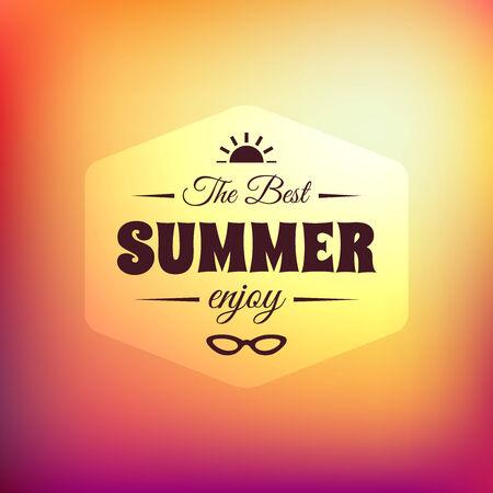 summer season: Retro styled summer calligraphic design card
