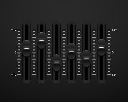 mixing board: Vector sound mixer console panel