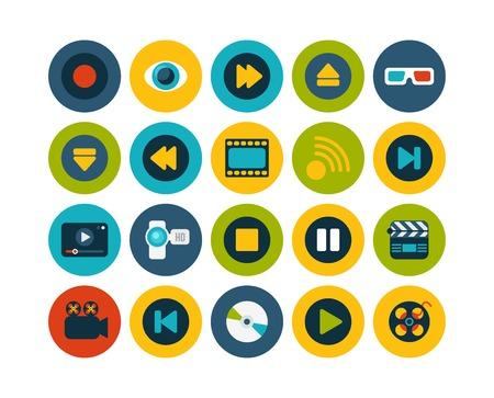 rewind icon: Flat icons set 5