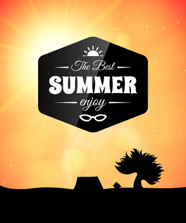 Poster summer theme, healthy life style Vector
