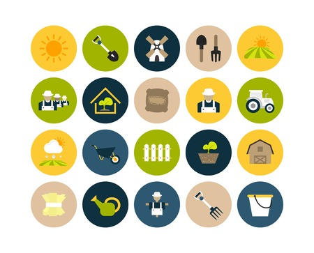 granja: Iconos planos establecen 26 Vectores