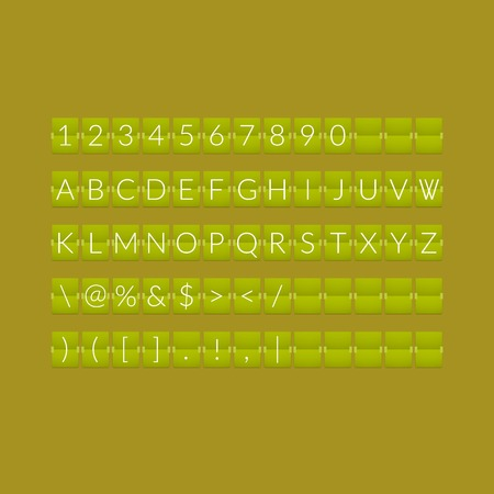 sec: Flat green paper countdown timer