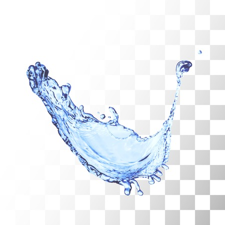 splash of water: Blue water splash isolated on white