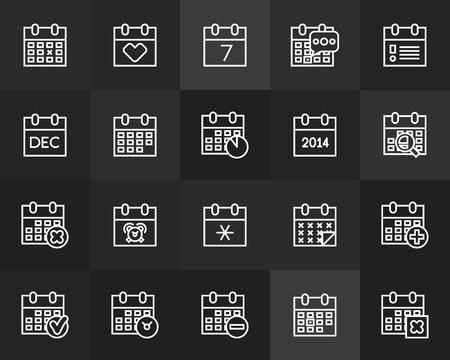 contorno: Iconos del esquema de dise�o plano y delgado, l�nea moderna estilo de trazo Vectores