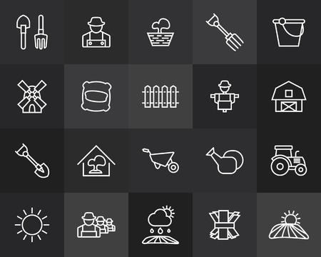 line design: Outline icons thin flat design, modern line stroke style