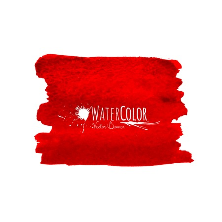 Bright red banner isolated on white background Vector