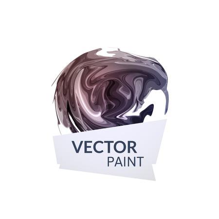 Abstract digital watercolor ink, virtual technology splash paint Vector