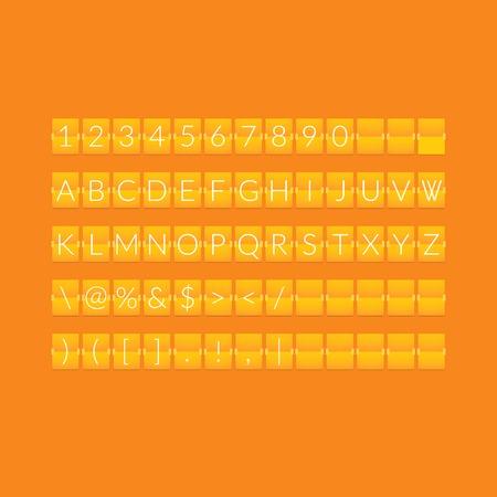countdown: Flat orange paper countdown timer Illustration