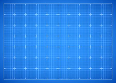 Blue square grid blueprint Illustration