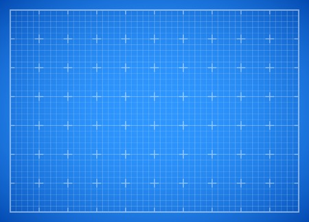 Blue square grid blueprint Ilustrace
