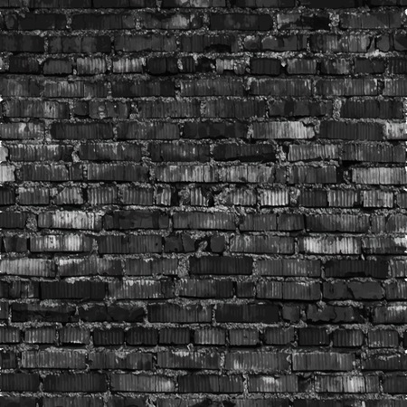 stone mason: Brick wall, black relief texture with shadow Illustration