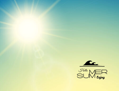 background summer: Summer background, summer sun with lens flare