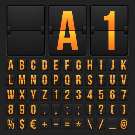 indicator board: Countdown timer and date, calendar scoreboard