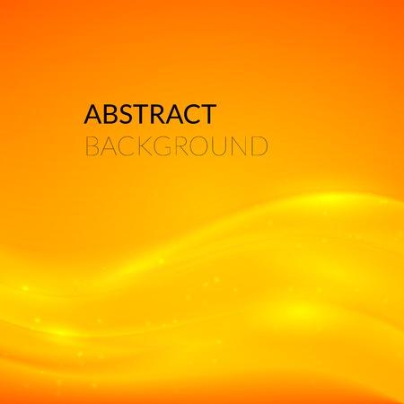 fond abstrait orange: R�sum� fond orange avec des lignes douces