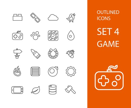 stroke of luck: Outline icons thin flat design, modern line stroke style