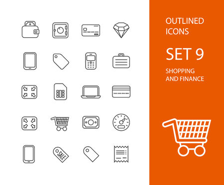 credit card payment: Outline icons thin flat design, modern line stroke style