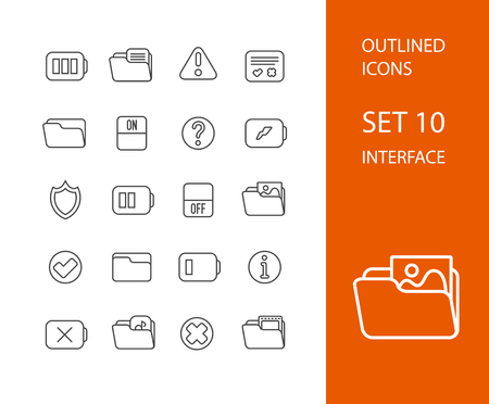 accept icon: Outline icons thin flat design, modern line stroke style