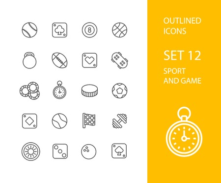 finish line: Outline icons thin flat design, modern line stroke style