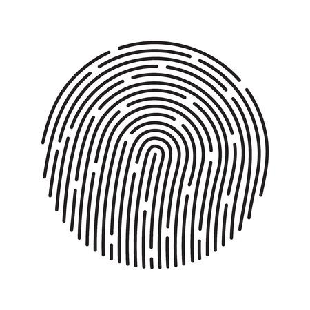 Fingerprint identification system, black symbol isolated on white Vector