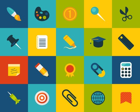 bright color: Flat icons set 2