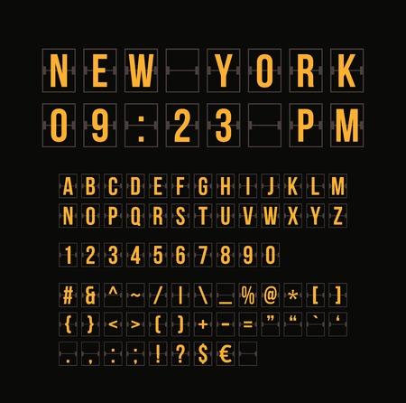sec: Outline sountdown timer and date, flat calendar scoreboard