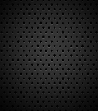 metal noir: M�tal noir ou de la texture en plastique avec des trous Illustration