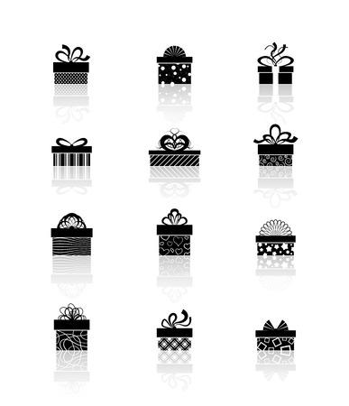 giftware: gift box icons