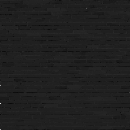 Brick wall background, black relief texture with shadow 矢量图像