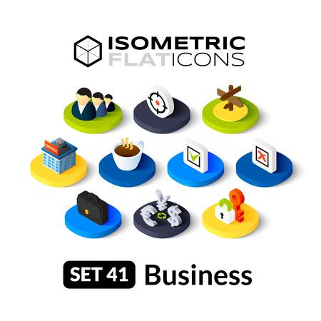 icônes plates isométriques, 3D pictogrammes vector set 41 - collection de symboles d'affaires Vecteurs