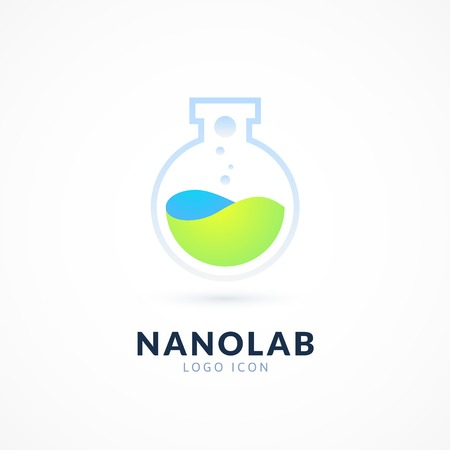 inovation: Nano lab logo template, vector science icon Illustration