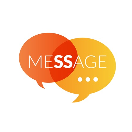 Text message , sms or mail vector icon 일러스트