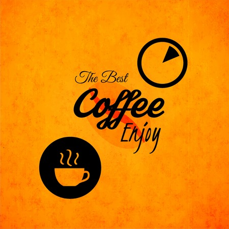 coffeehouse: Menu for restaurant, the best coffee enjoy, use for cafe, bar of coffeehouse, vector illustration Illustration