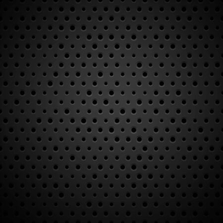 plastic texture: Black metal or plastic texture with holes, pattern background vector illustration