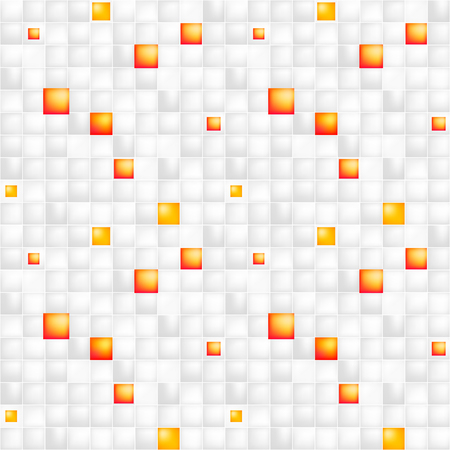 festively: Glossy colorful mosaic square cells grid, abstract vector background illustration Illustration