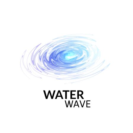 sonar: onde d'acqua sonar radiali, raggi viola blu, astratto impulso di acqua trasparente isolato su uno spazio bianco, utilizzato per la presentazione di affari dell'industria musicale o partito simbolo manifesto illustrazione vettoriale