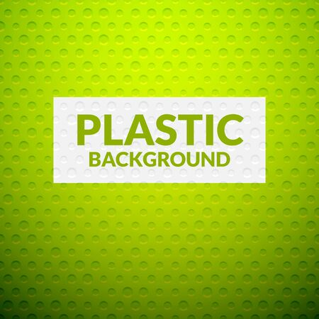 plastic texture: Green metal or plastic texture with holes, pattern background vector illustration Illustration