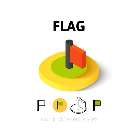 urgently: Flag icon, vector symbol in flat, outline and isometric style