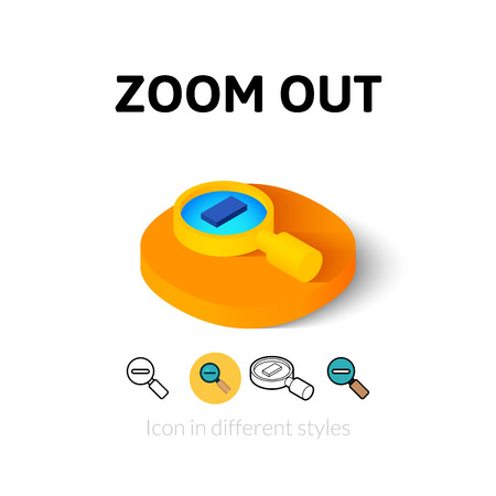 zoom out: Zoom out icon, vector symbol in flat, outline and isometric style Illustration