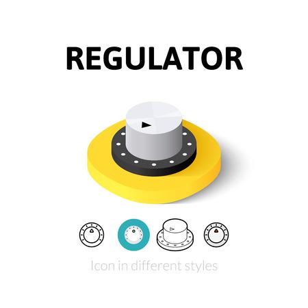 regulator: Regulator icon, vector symbol in flat, outline and isometric style Illustration