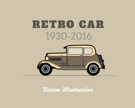 coupe: Retro car vintage collection, classic garage sign, vector illustration background, can be used for design card infographics