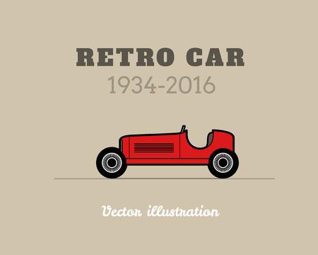 silhouette voiture: Retro course collection vintage de voiture de sport, signe de garage classique, illustration vectorielle fond, peut être utilisé pour des infographies de cartes de conception