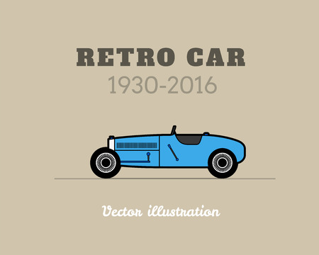 racing sign: Retro sport racing car vintage collection, classic garage sign, vector illustration background, can be used for design card infographics