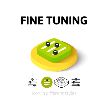 mixing board: Fine tuning icon, vector symbol in flat, outline and isometric style