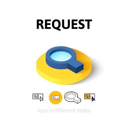 request: Request icon, vector symbol in flat, outline and isometric style Illustration