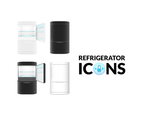 refrigerate: Modern refrigerator isolated on white background, vector illustration