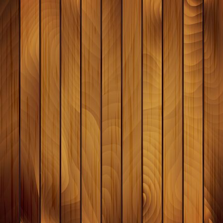 Vector wood plank, brown texture background illustration