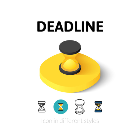deadline: Deadline icon, vector symbol in flat, outline and isometric style