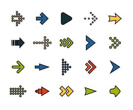 penetration: Outline icons thin flat design, modern line stroke style, web and mobile design element, objects and vector illustration icons  set 28 - signs arrows collection