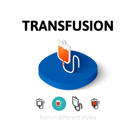 transfuse: Transfusion icon, vector symbol in flat, outline and isometric style Illustration